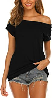 Women's Off The Shoulder Tops Summer Casual Short Sleeve...