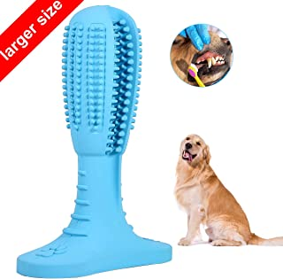 Fine-Pets Dog Toothbrush Teeth Cleaning Chew Toy - Dog Toothbrush Stick - Puppy Dental Care Toothpaste Accessory - Nontoxic Natural Rubber Bite Chew Toys for Small Large Dogs Pets
