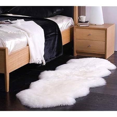 Lammfellimitat Teppich Longhair Fell Nachahmung Wolle Bettvorleger Sofa Matte JXLOULAN Spitzenqualit/ät Lammfellimitat Teppich Grau, 80 x 180 cm