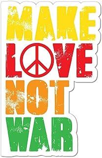 Make Love Not War Car Sticker Decal Hippie Peace Flower Power 80S