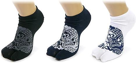 【メンズ】スニーカー 足袋 ソックス 3足セット 和デザイン 25-28cm