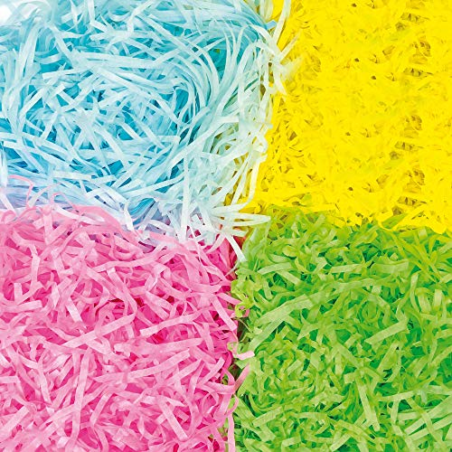 Baker Ross Carta a Striscioline (Confezione 72g) in Colori Primaverili per lavori artistici e creazioni pasquali Fai da Te