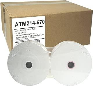 ATM Paper 2-1/4 x 670, 74g, Sealed 8 Rolls Tranax MB 1700 1705 GenMega G2500 GT3000