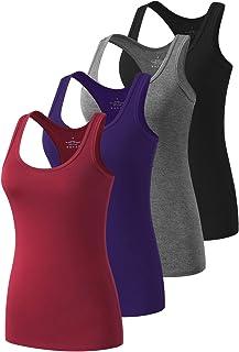 تاپ های تمرینی دنج پیرو مخصوص بانوان Racerback Yoga Tanks Basic Athletic Activewear-4 بسته