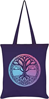 Tree of Life Tote Bag Purple 38 x 42cm