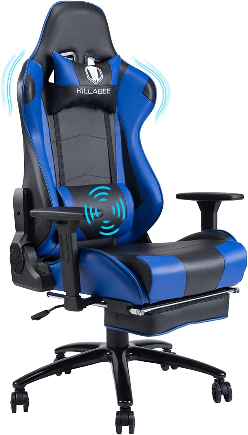 Massage Computer Gaming Tulsa New Orleans Mall Mall Chair with Base and Metal Footrest Thick