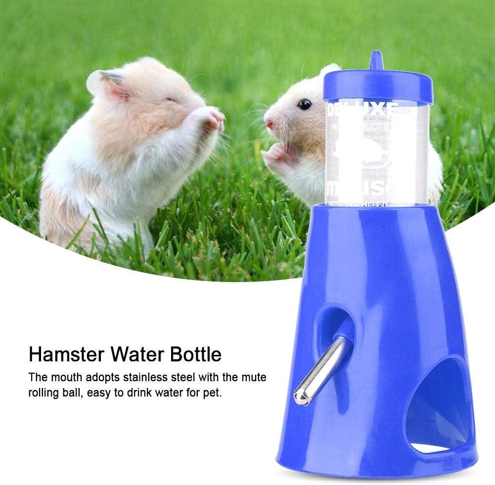 2-en-1 Casa de hámster a prueba de fugas Botella de agua para mascotas Bebedero Bebedero para animales pequeños Dispensador de bebida Alimentador para ...
