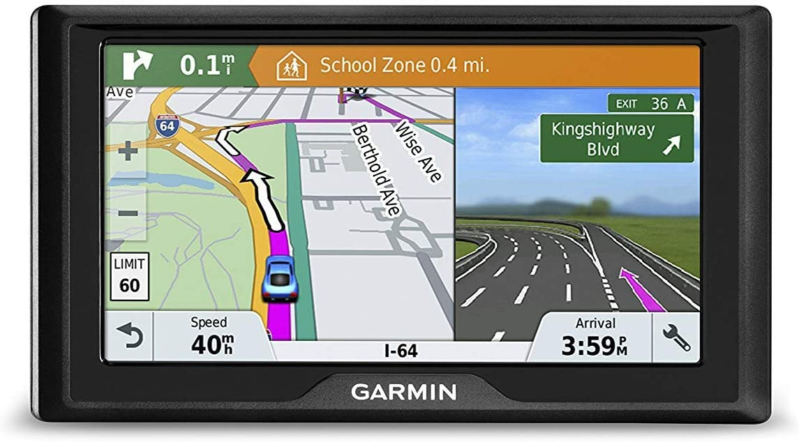 Garmin Drive 51LM (010-N1678-06) USA+Canada GPS Navigator with Lifetime Maps, Driver Alerts, Foursquare Data, Spoken Turn-by-Turn Directions, TripAdvisor (Renewed)