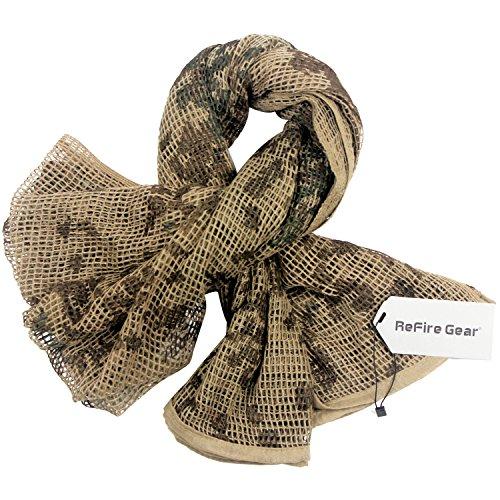 ReFire Gear Tarnung Tarnnetze Netzschal Tarnschal Tactical Mesh Net Schal Armee Draussen Jagd Camo Camouflage Conceal Wrap Gesichtsschleier 75' X 41'