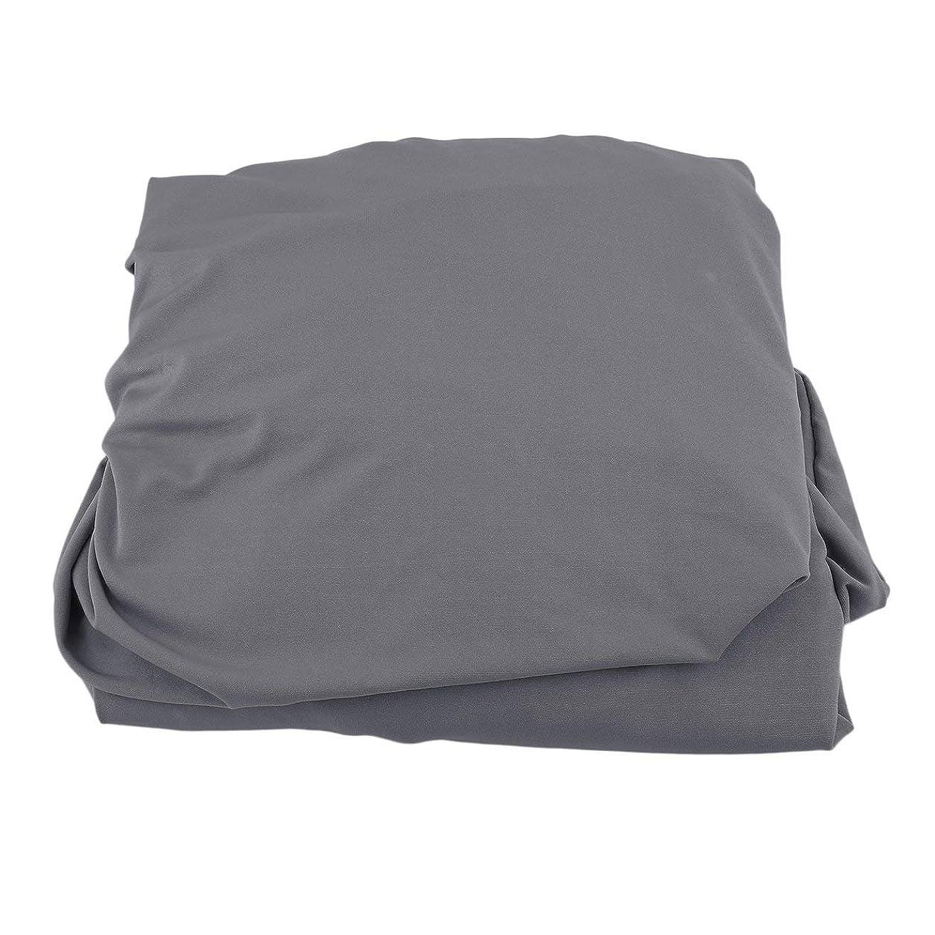 食べる湿地不和Saikogoods 弾性ポリエステルソファカバーピュアカラーストレッチ本のカバー柔軟な椅子Dustcoat耐久性のあるソファーカバー家具の布 グレー