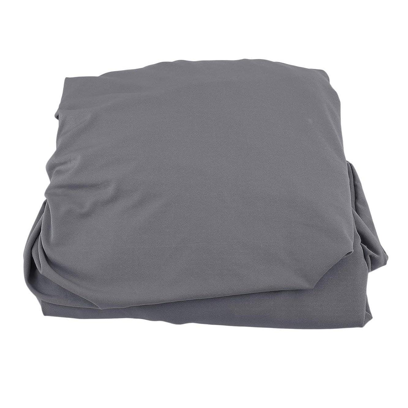 極めて重要なプレゼント価値Saikogoods 弾性ポリエステルソファカバーピュアカラーストレッチ本のカバー柔軟な椅子Dustcoat耐久性のあるソファーカバー家具の布 グレー