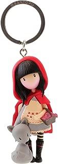 Gorjuss- Llavero muñeca Little Red Riding Hood, Color Rojo (82076619830)