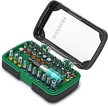 Hitachi - 750363 - Set 32 puntas de atornillar Phillips, Pozidrive, Torx, inviolables, hexagonales y planas + portapuntas + adaptador