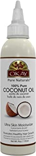 OKAY | 100% Pure Coconut Oil | For All Hair Textures & Skin Types | Ultra Skin Moisturizer & Promotes Healthy Hair Growth | All Natural | Free Of Parabens, Silicones, Sulfates , yellow , 4 Oz