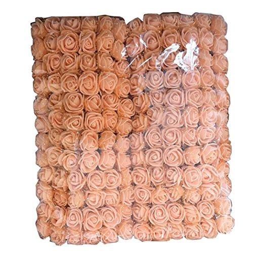 hlhn 144pcs mini Artificial rosa Multicolor Rosa ramo de flores rosas de tela para la decoración de oficina decoración de casa escritorio mesas de jardín fiesta