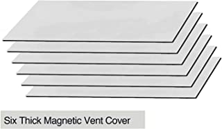 Sidewall and Floor Vents Cover,an Air High Energy Tight Seal on Floor and Wall 5.5 X 12 by KINGLEV 4-Pack Magnetic Vent Cover,