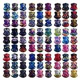 HCMY 12PCS Multifunctional Magic Scarf Outdoor Headwear Bandana Neck Gaiter Sports Tube UV Face Mask Shield Hiking Headband Elastic Resistence Reusable for Workout Yoga