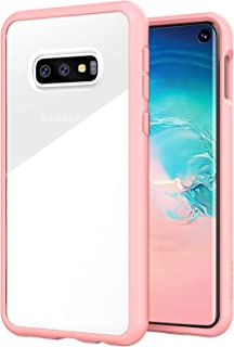 ZUSLAB Tough Fusion Designed for Samsung Galaxy S10e Case Clear with Transparent Back Cover - Pink
