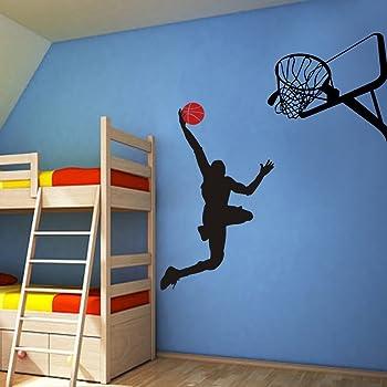 Jugador de baloncesto Dunk Ball Michael Jordan – Vinilo adhesivo ...