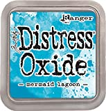 Ranger Pad Tinta Distress Oxide Mermaid Lagoon Tim Holtz, Material sintético, Azul, 7.5 x 7.5 x 1.9 cm