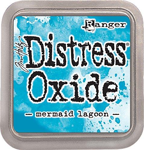 Ranger TDO56058 Tim Holtz Distress Oxide Ink Pad Mermaid Lagoon, Matériau synthétique, Bleu, 7,5 x 7,5 x 1,9 cm