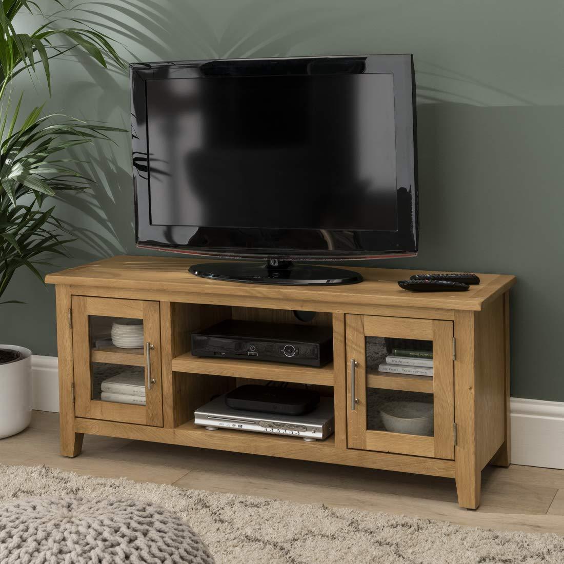 Nebraska Oak - Mueble grande para TV de plasma, DVD y vídeo - Montado: Amazon.es: Hogar