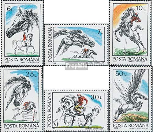 Prophila Collection Rumänien 4784-4789 (kompl.Ausg.) 1992 Pferde (Briefmarken für Sammler) Pferde