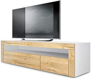 BNT Flamingo Mueble para la TV de Madera de Teca 150x30x30 cm ...