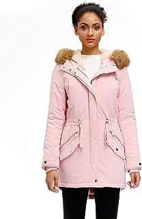 Women's Hooded Warm Winter Parka Coat Waterproof Faux Fur...