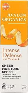 Avalon Intense Defense Sheer Moisture - SPF 10 - Case of 1 - 1.75 oz.