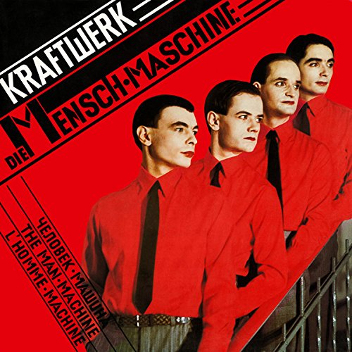 """KRAFTWERK / DIE MENSCHEN-MASCHINE / 1978 / Bildhülle mit illustrierter Innenhülle / EMI # 1C 058-32 843 / 05832843 / Deutsche Pressung / 12"""" Vinyl Langspiel-Schallplatte"""