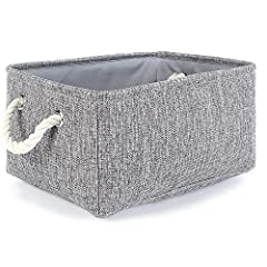 MULTI-PURPOSE:This small basket great for books,magazines,toy storage,dog toys basket,shoe basket,clothes basket,shelf,baby bin,pet toy storage,towel basket,blankets,decorations,office supplies,DVD and gifts,Decorative basket ideal for living room,be...