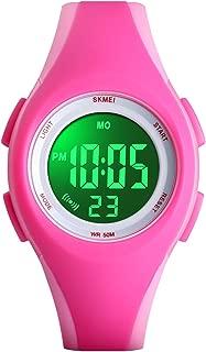 Kids Digital Watch, Boys Sports Waterproof Led Watches Kids Watches with Alarm Wrist Watches for Boy Girls Children Pink
