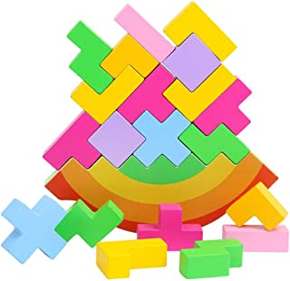 YONGMEI Tetris Stacks of High Building Blocks Children's Puzzle Puzzle Kindergarten Stacking Music Balance Toys Parent-Child Games
