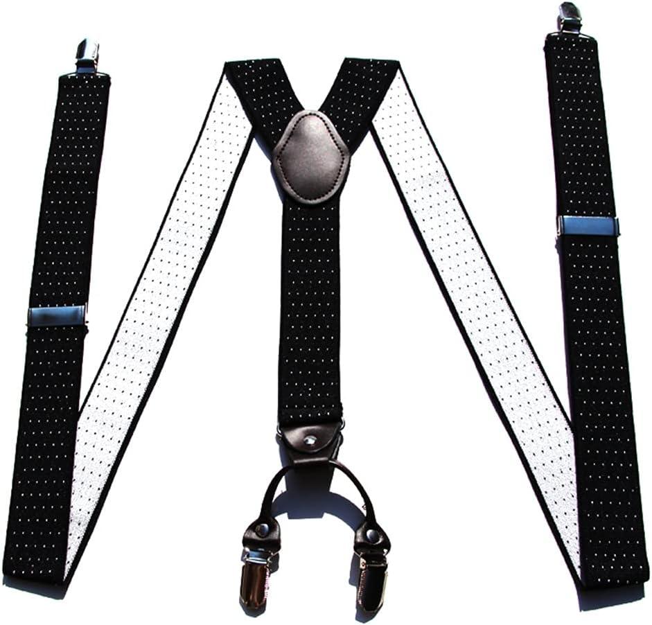 SKREOJF Braces for Men & Women Fully Adjustable Y Shape Adults Slim Suspenders Braces for Trousers (Color : E)