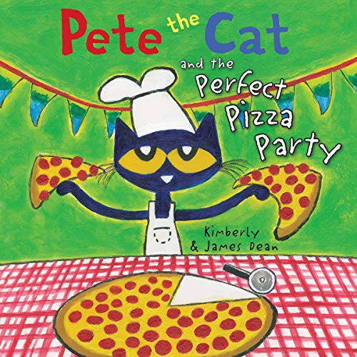 Couverture de Pete the Cat and the Perfect Pizza Party