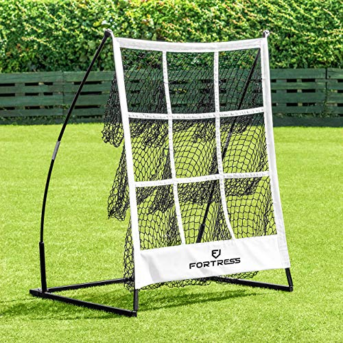 Fortress Portable Baseball Pitching Target | 9 Hole Pitchers Target Strike Zone | Softball & Baseball Net Pitching Training Aids | Baseball Training Equipment