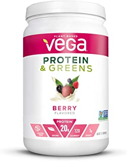 Vega Protein and Greens, Berry, Plant Based Protein Powder Plus Veggies - Vegan Protein Powder, Keto-Friendly, Vegetarian,...