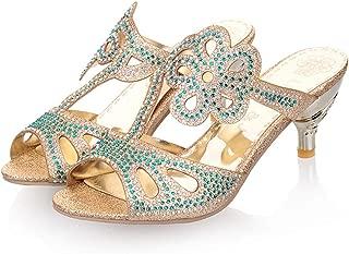 jingxlkd - Zapatillas de tacón Alto para Mujer, diseño de Flores