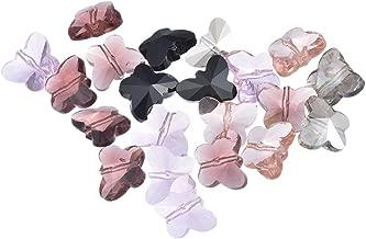 Paquet 30 x Argent Antique Tibétain 8 x 10mm Papillon Perles HA17030