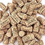 Lawei 100 Unidades de Corchos de Vino Tapones de Botella Natural Corcho para Manualidades decoración - 2,2 x 4,4 cm