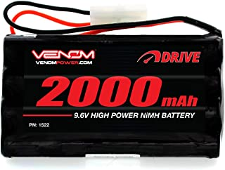 Venom 9.6V 2000mAh 8-Cell NiMH Battery for Nikko, Megatech, New Bright, Maisto, Maya, Jada, and Other 9.6V Toy RC Cars