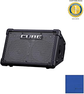 Roland CUBE-ST-EX CUBE Street EX 4-Channel 50-Watt Battery Powered Amplifier with Microfiber and 1 Year Everything Music Extended Warranty