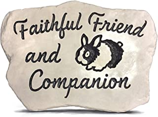 RocksOnly Faithful Friend and Companion - Engraved and Cast in a Heavy Little 3 LB Stone