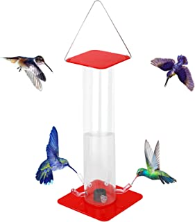 Peter's Hummingbird Feeder ,Outdoor Hanging Hummingbird Feeder with Bright Transparent Tube,Convenient Birds Feeder,Transp...