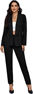 شلوار جیبی زنانه SheIn شلوار جادویی جامد دو تکه ست لباس