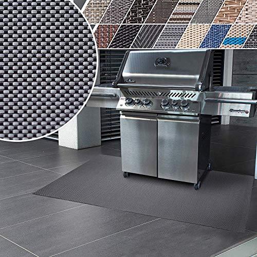 Floordirekt Grillschutzmatte | Schwer entflammbar | 2 Größen | 5 Designs | Grillmatten zum Grillen im Garten | Outdoor Matten für den Grill (90 x 180 cm, Lucca)