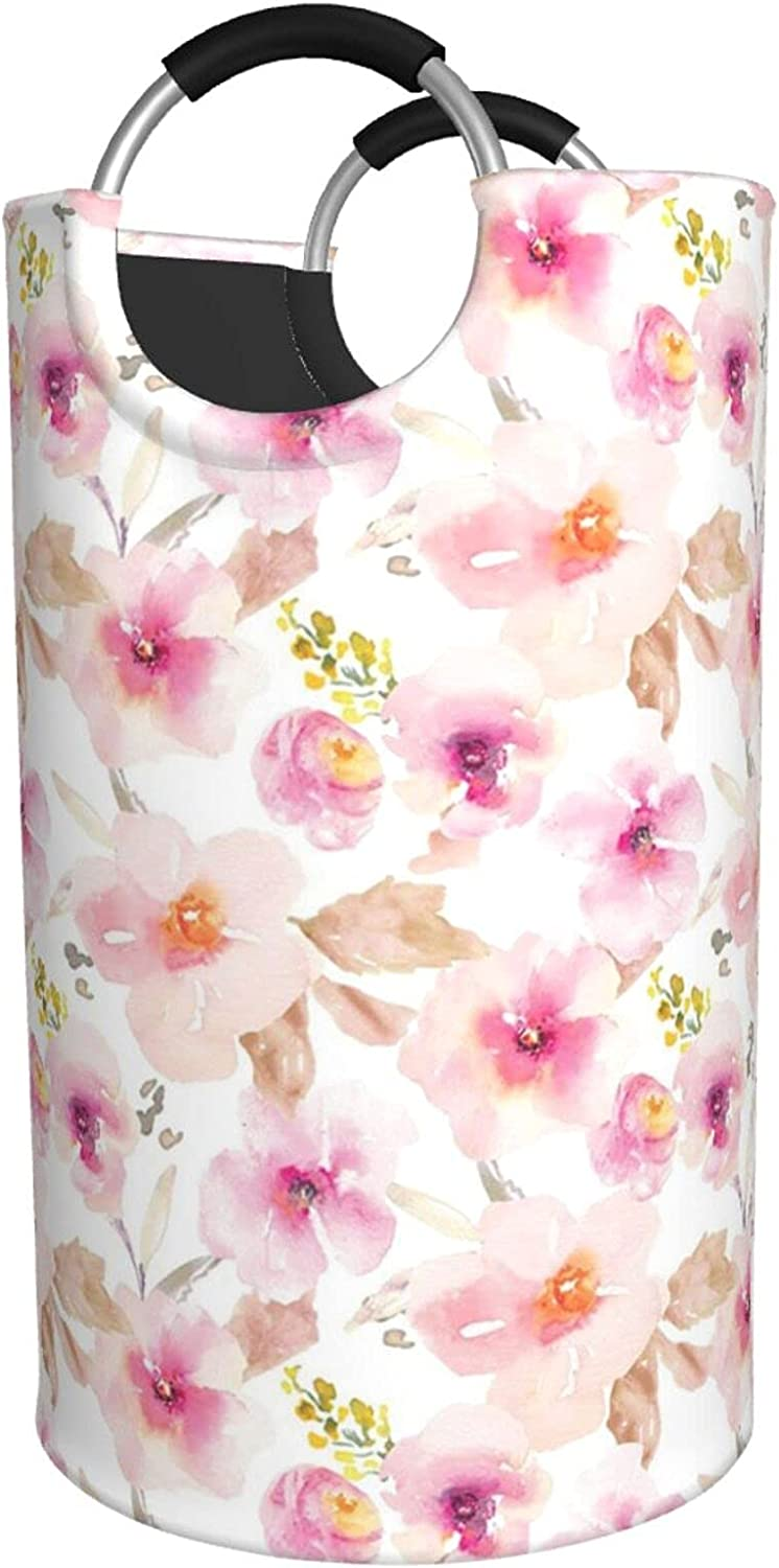 Pink And Opening large 5% OFF release sale Purple Floral Print Waterproof Hamper Laundry