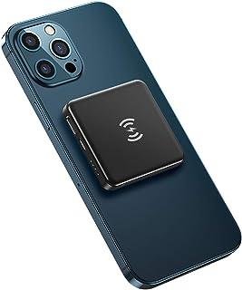 5000mAH QI Trådlös laddare Power Bank, USB PD Snabb laddning PowerBank Portable Extern batteriladdare för telefon,Black