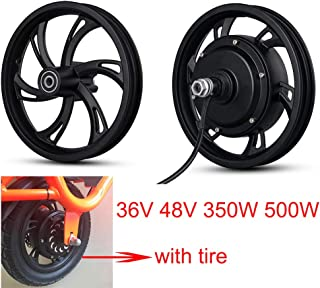 Kunray 36V 48V 350W 500W Electric Bike 12inch DC Brushless Motor Wheel Front Rear Hub Motor High Speed for Electric Scooter Disc Brake